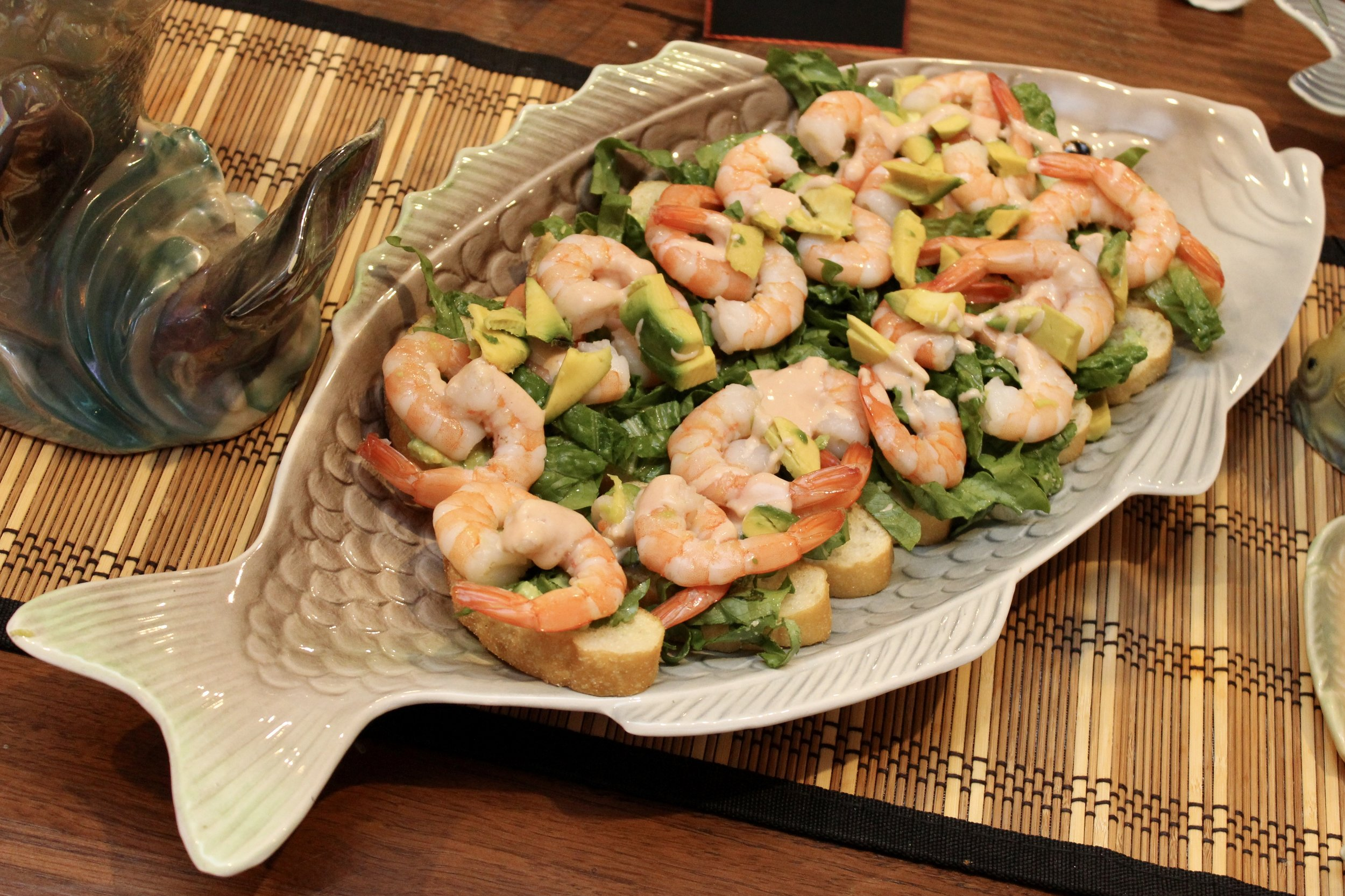 Seafood Canapes on Shorter and Sons Platter