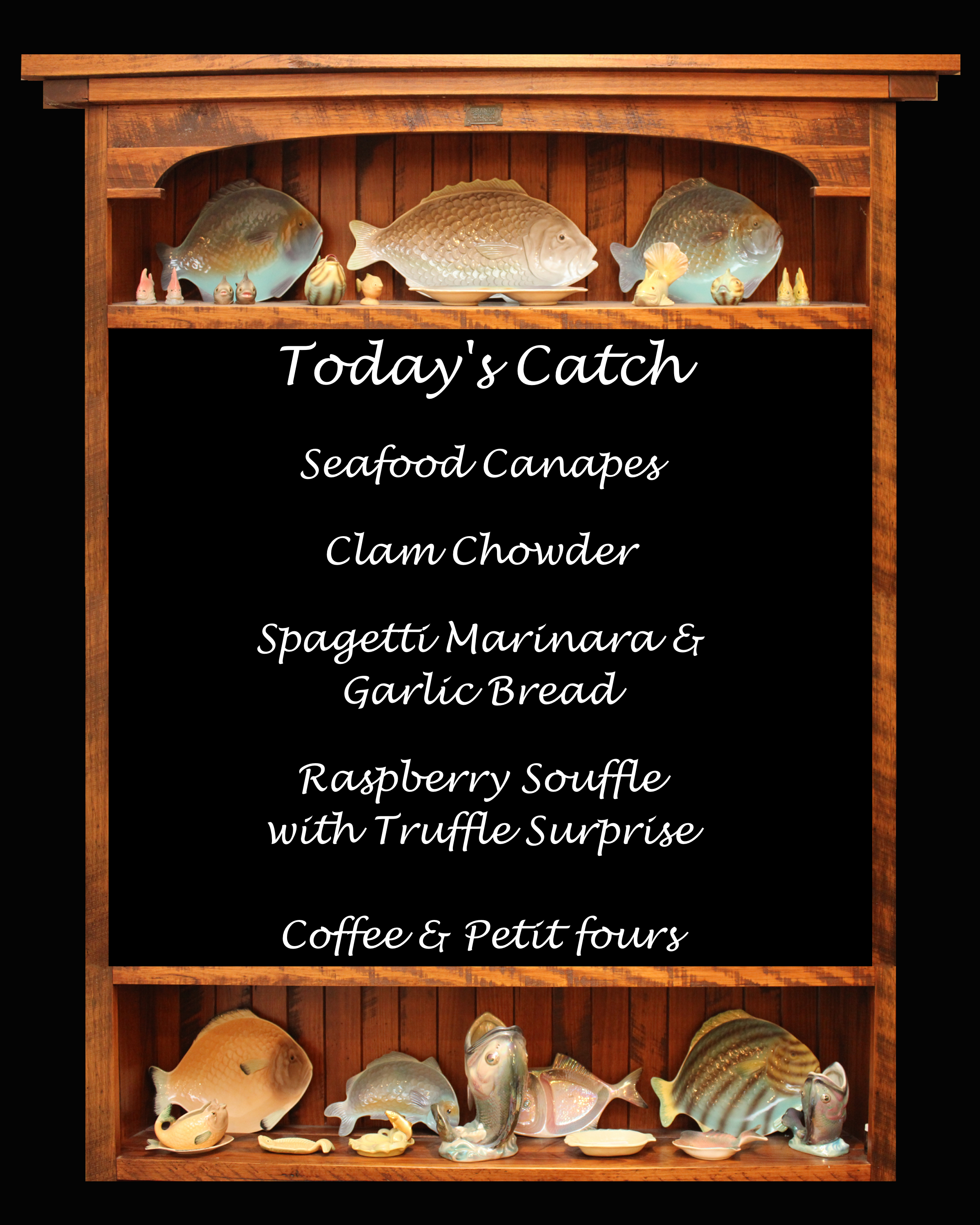 Seafood Dinner Party menu