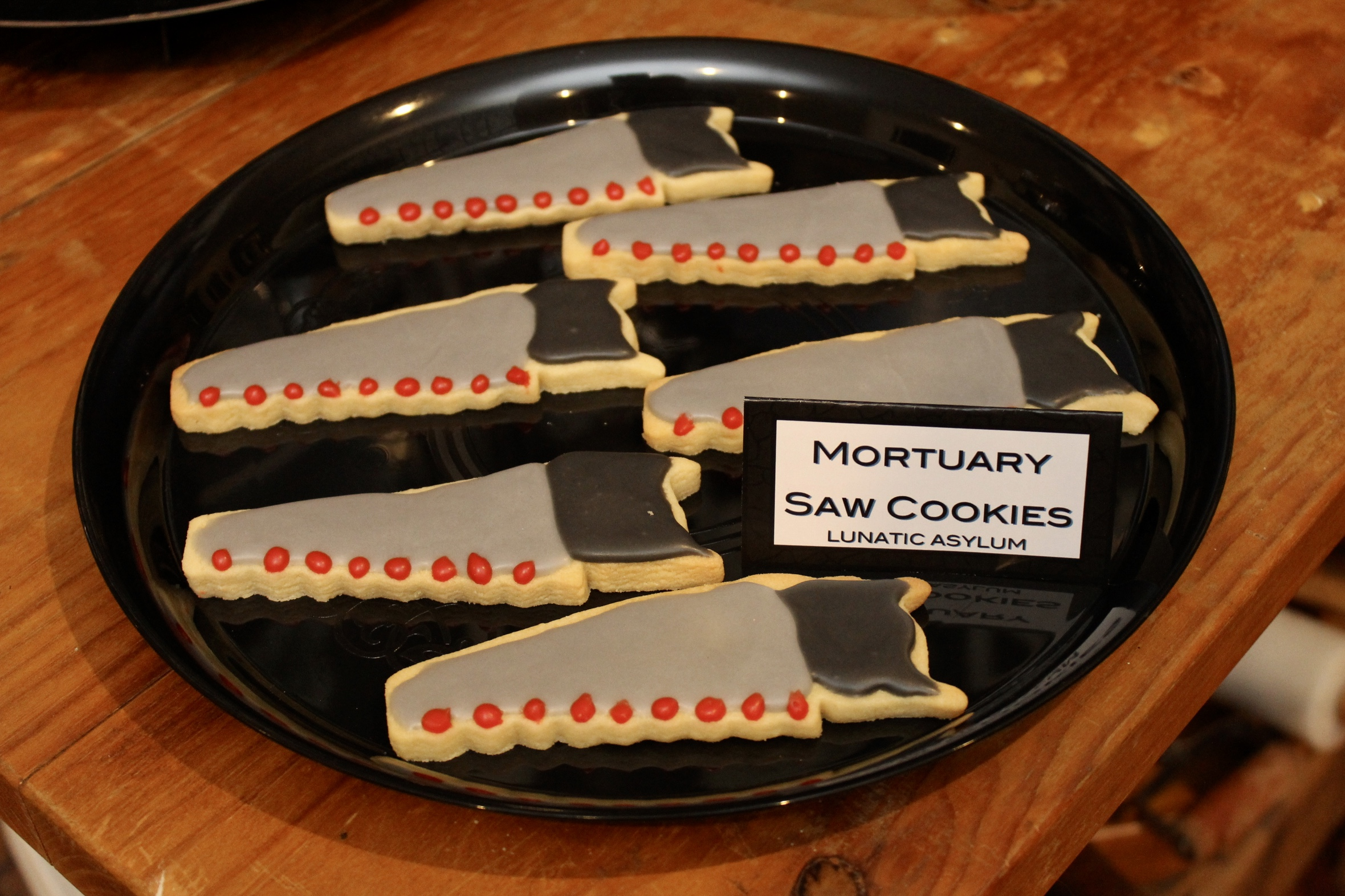 Halloween Asylum Cookies - Mortuary Saw
