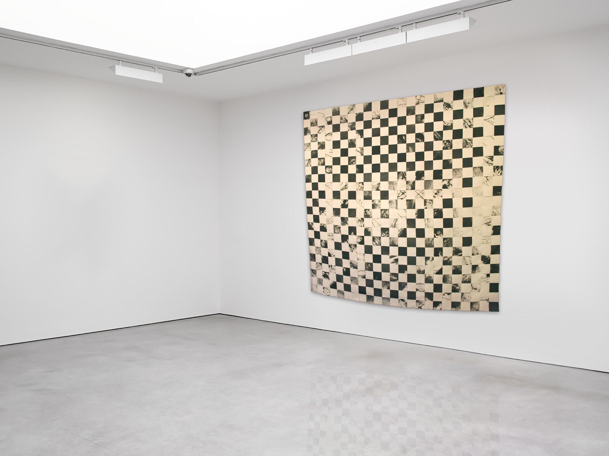 "no. 20: a2. 08 nov. 2010 acrylic on unstretched cotton canvas 46.5"" x 46.5"""