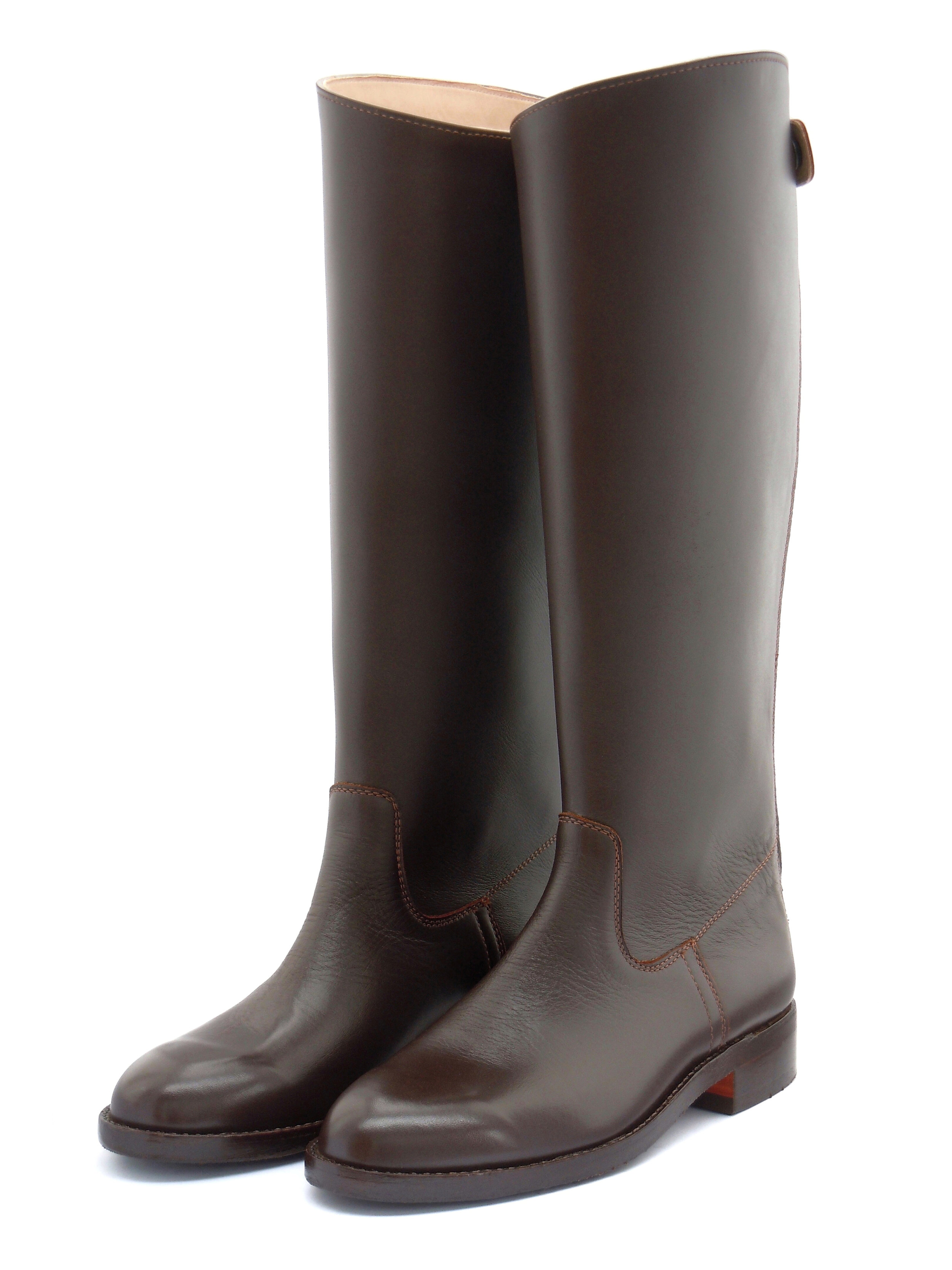 Polocrosse Boots with Curved Tops (Zip-Up)