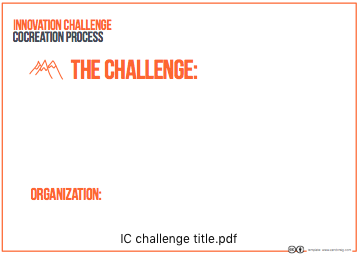 INNOVATION CHALLENGE TITLE TEMPLATE