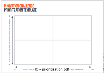 INNOVATION CHALLENGE PRIORITIZATION TEMPLATE