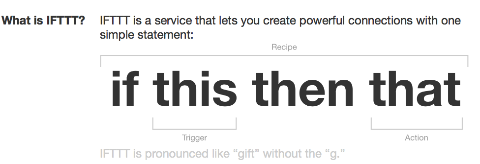 Taken from the IFTTT about page