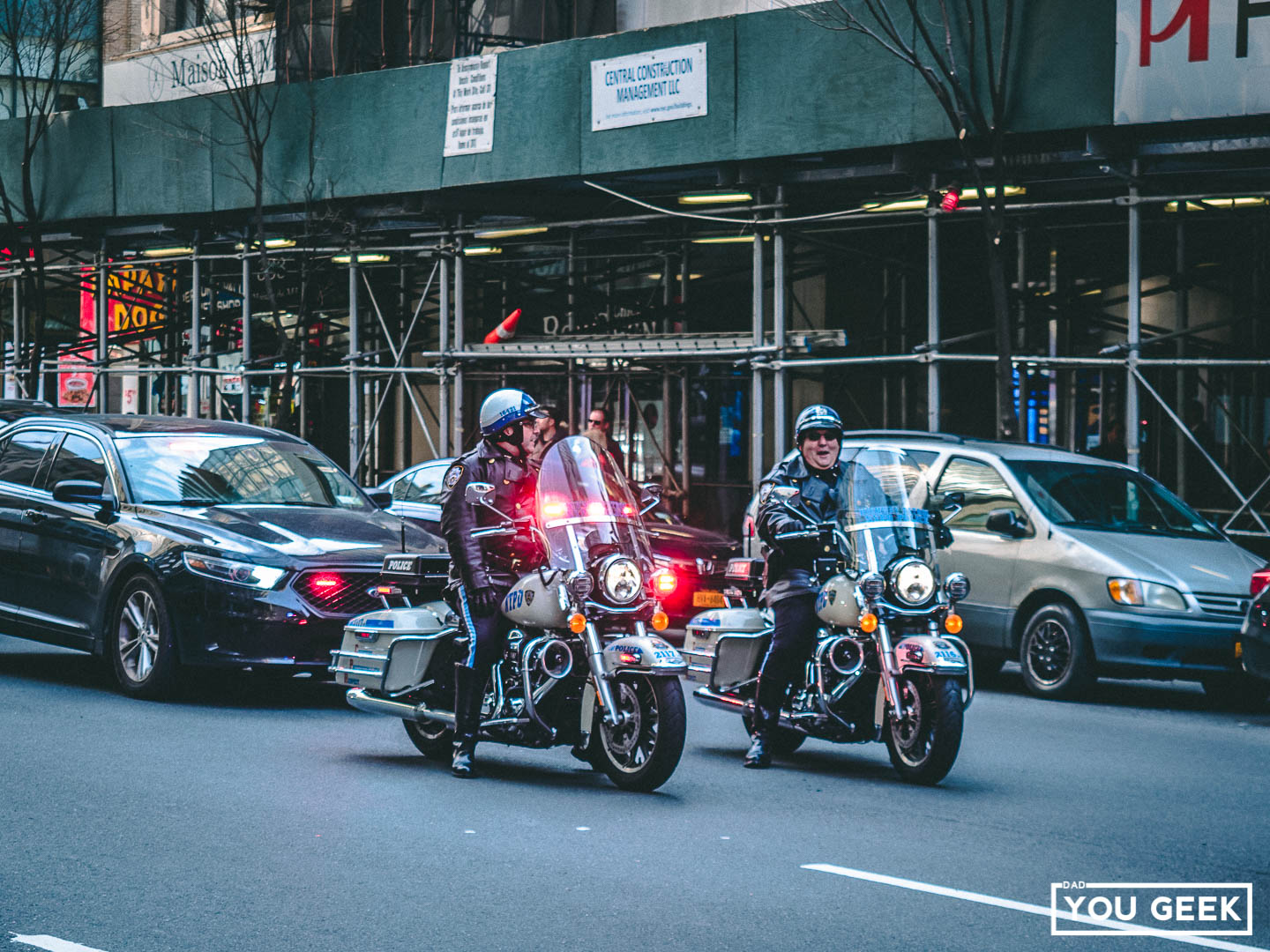 NYPD Motorcycle outriders