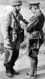 Recieving the Wehrmacht Long Service Award