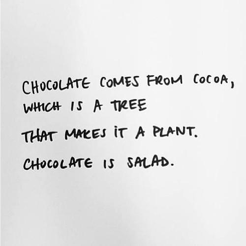 Chocolate Is A Salad