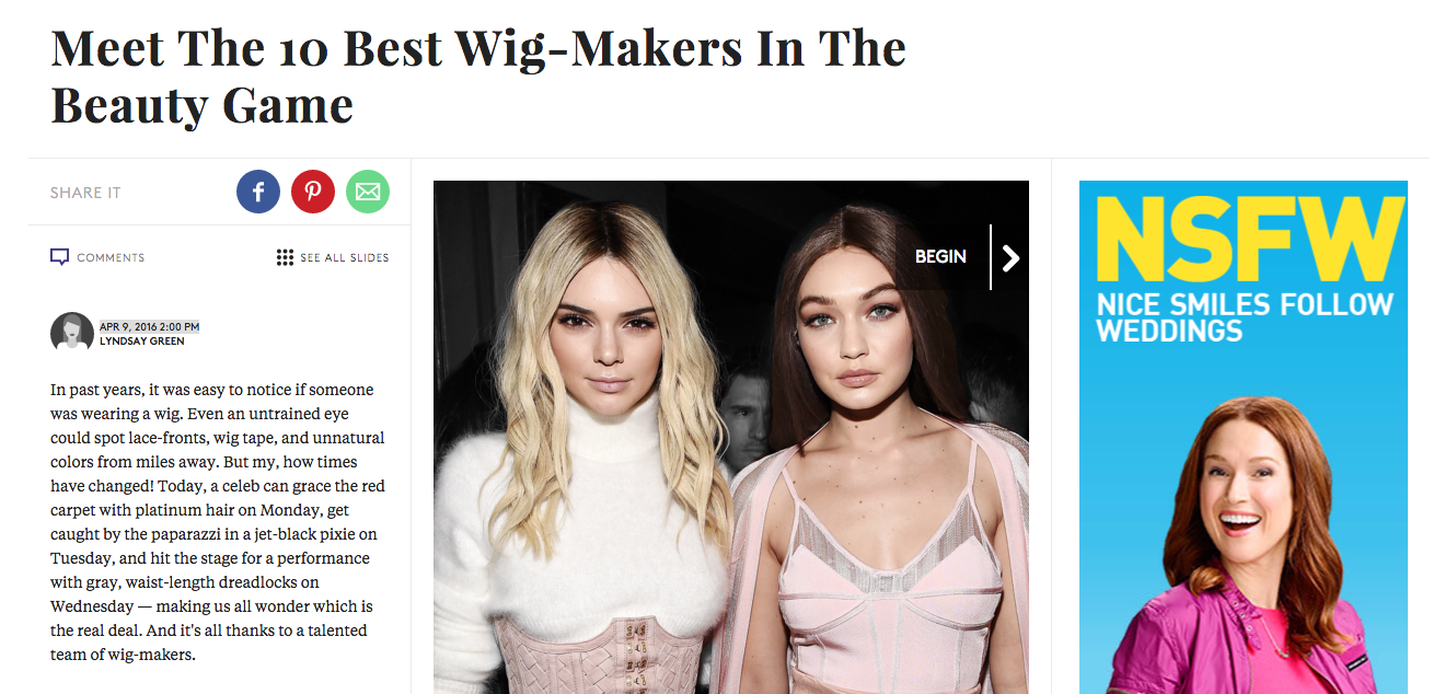 Wigbar /Isaac Featured on refiner29  Click here