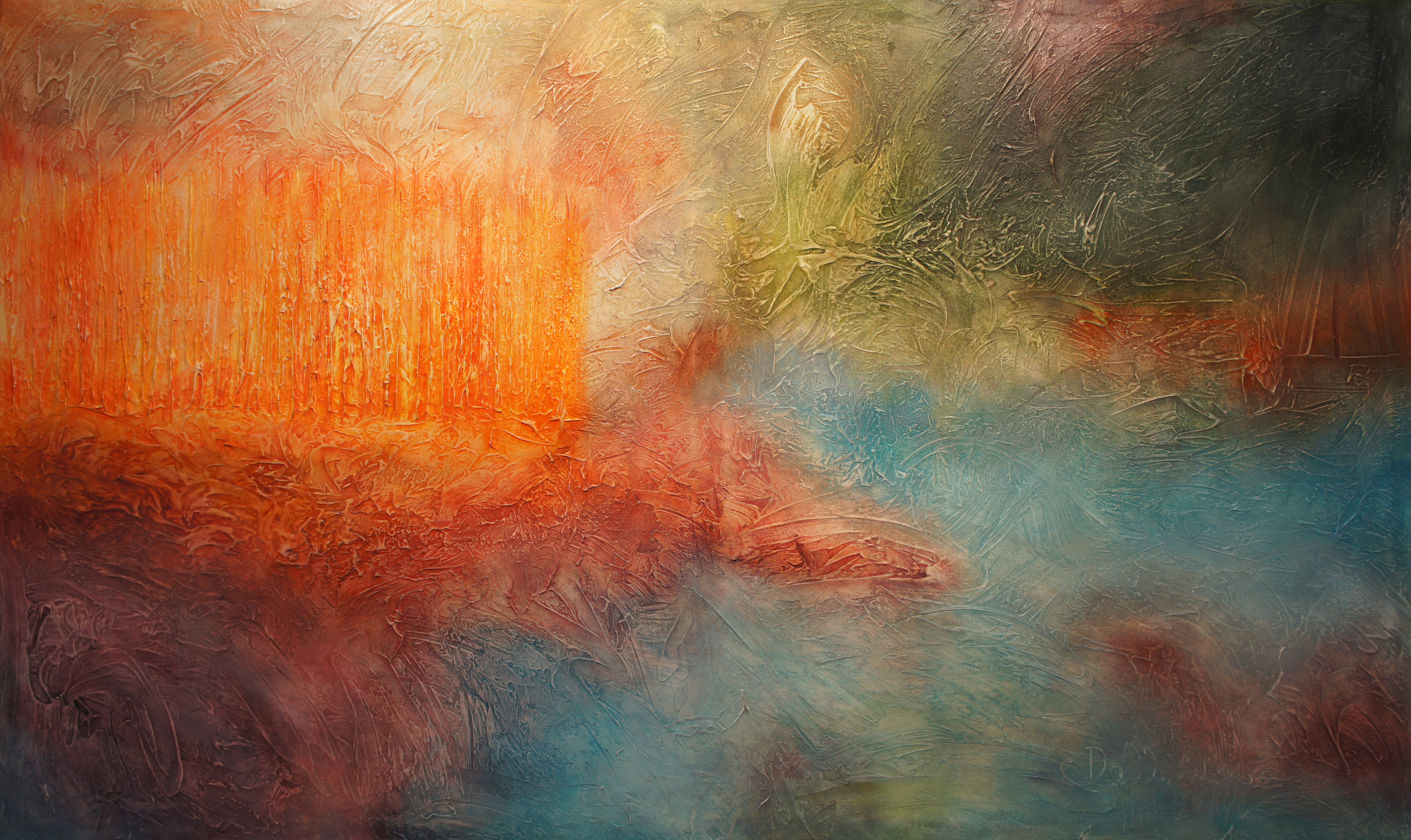 """Island Mist"" - Acrylic on Canvas -36 x 60 Inches - Fernando DeOliveira"