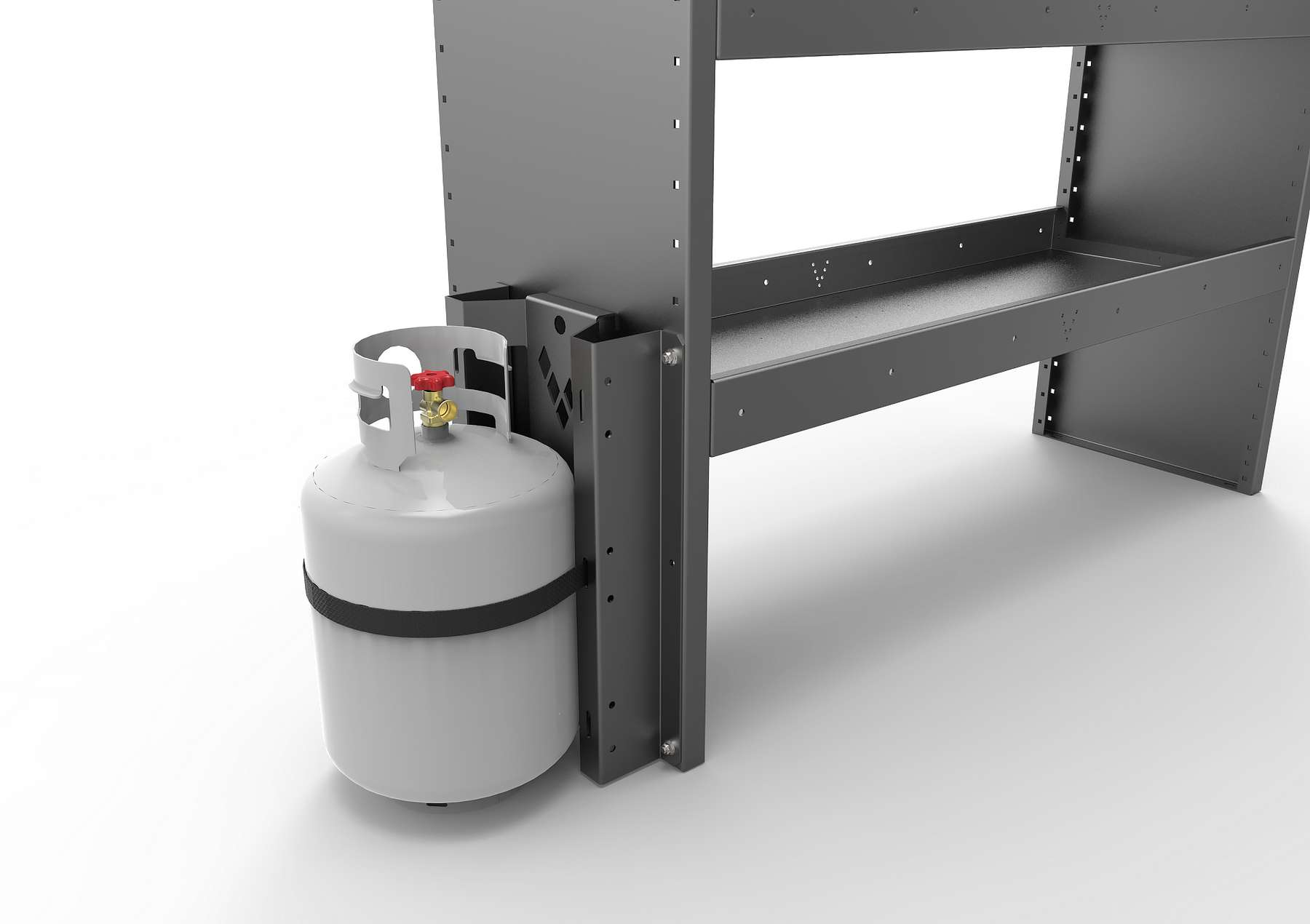VERTICAL GAZ BOTTLE SUPPORT (SINGLE)