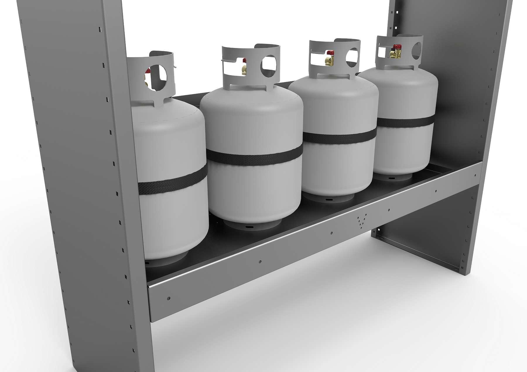 HORIZONTAL GAS BOTTLES SUPPORT
