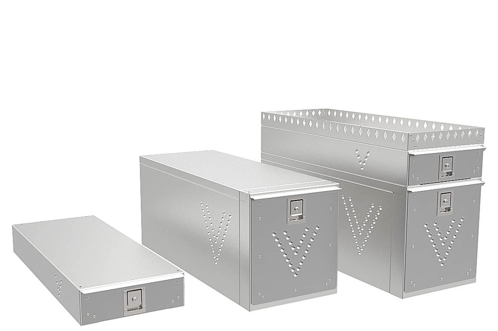 Large tool drawers with an optional crown