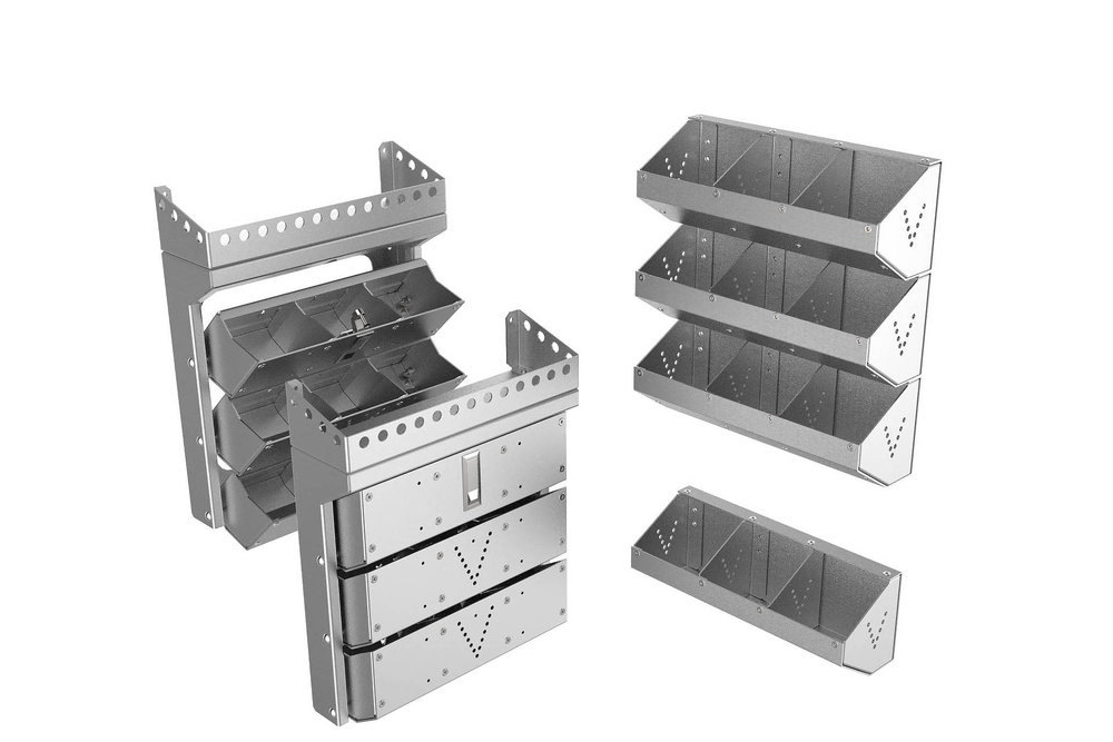 Nuts & Bolts bins, stand alone or folding