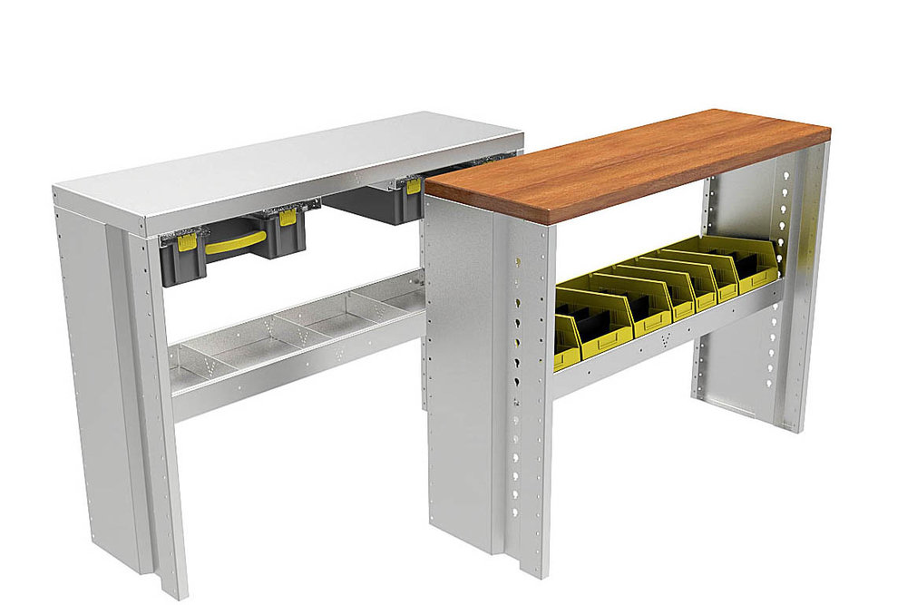 A work table.  Can be fitted with a wooden top.