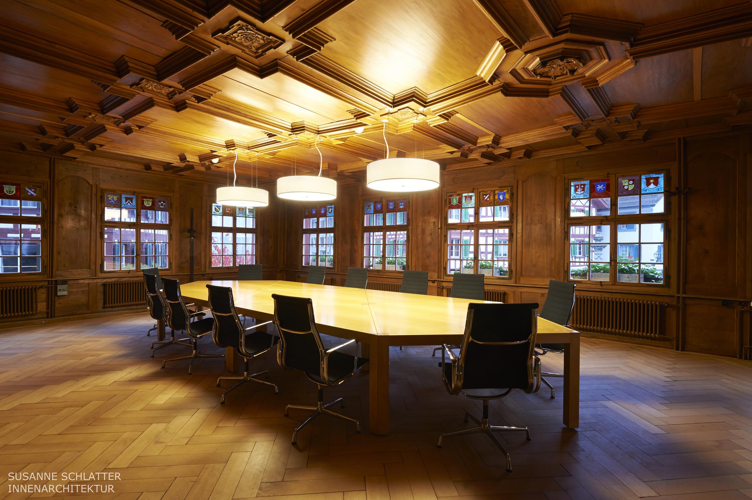 Lichtkonzept für den Konferenzbereich.