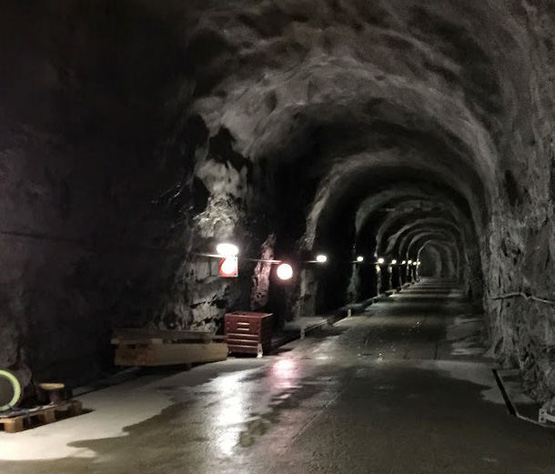 Die unterirdischen Stollen der KWO