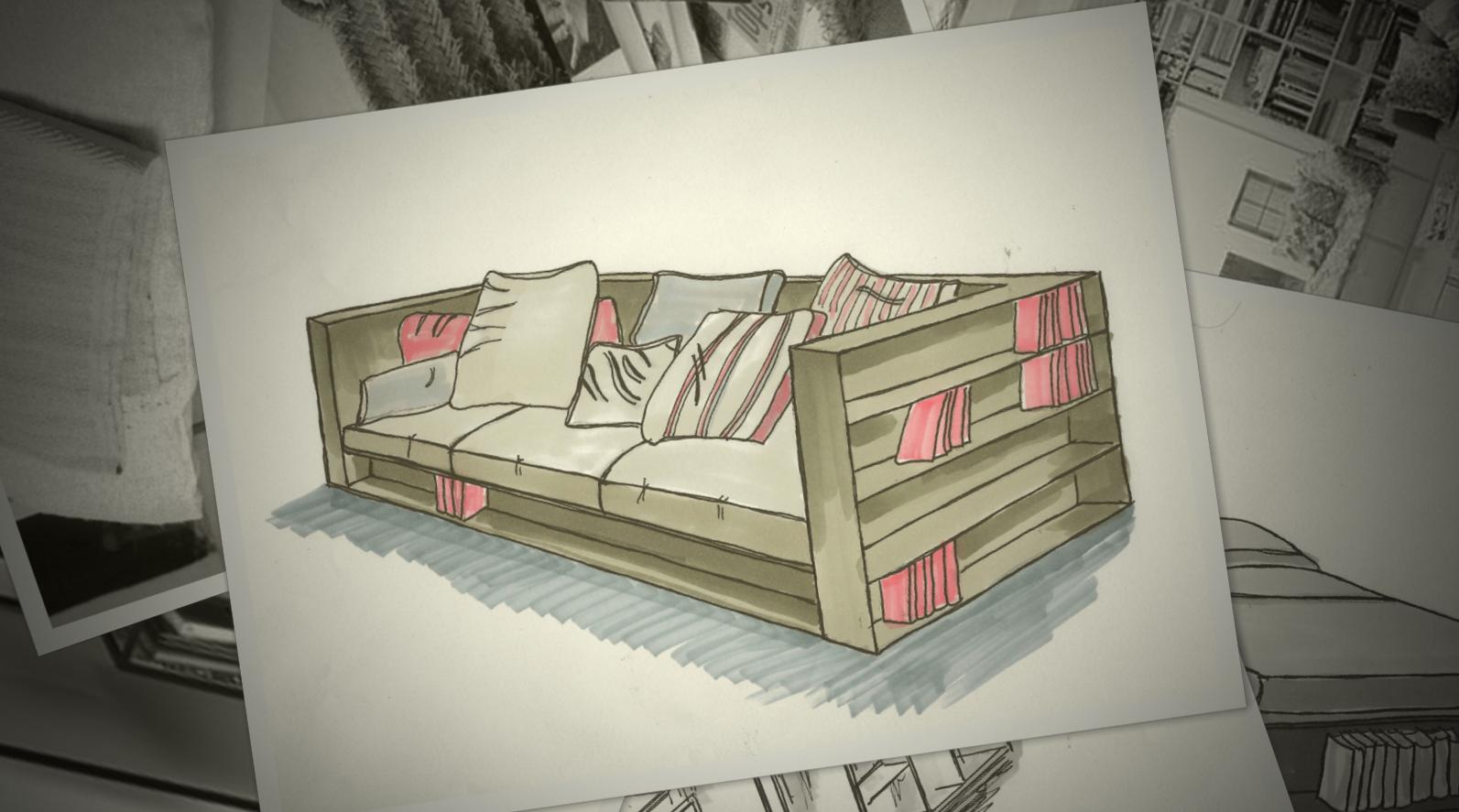 Ein Sofa für einen Bücherwurm.
