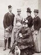 Who: Prince Albert Victor, Alix, Princess Beatrice, Princess Irene, Queen Victoria, little pug.    Balmoral1887    Source:  misshonoriaglossop
