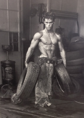 After: a photo from the legend: Herb Ritts - Fred with Tires