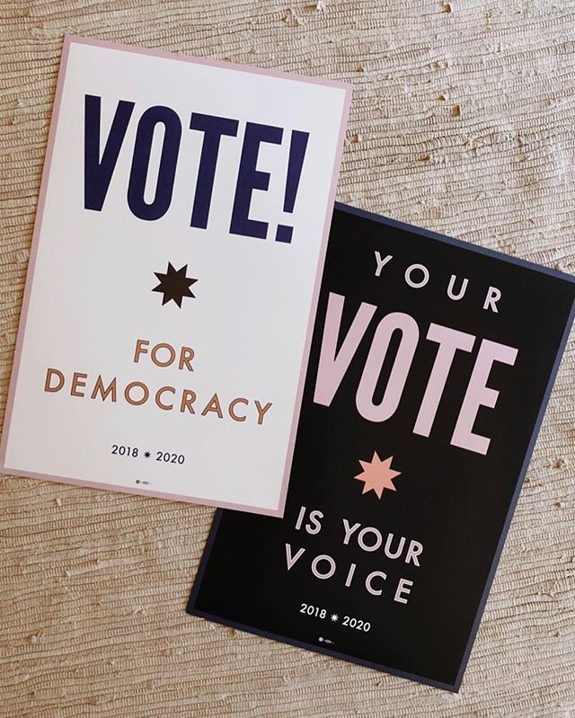 Time to show up. 🙌 What's your voting plan? I'm going first thing in the morning. Posters by @lenawolffstudio @_lexivisco