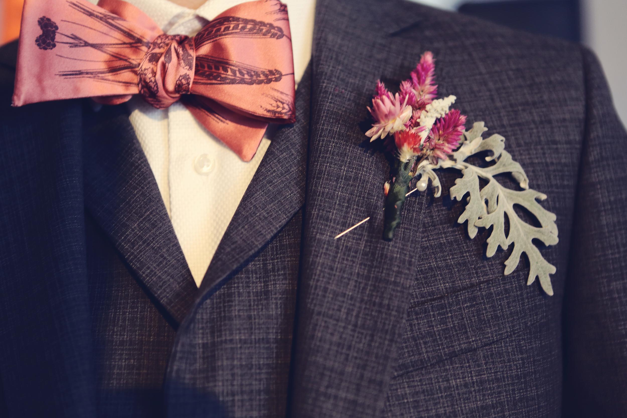Winter Wedding Boutonniere
