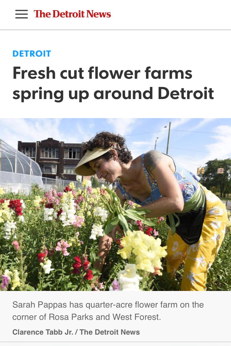 - Read/hear more about us here:Detroit News Feature!J'Adore DetroitDetroit SOUP PodcastModel DVisit Detroit magazineCrains Detroit BusinessLove in the DShut Yr Pie HoleCBS Eye on Detroit
