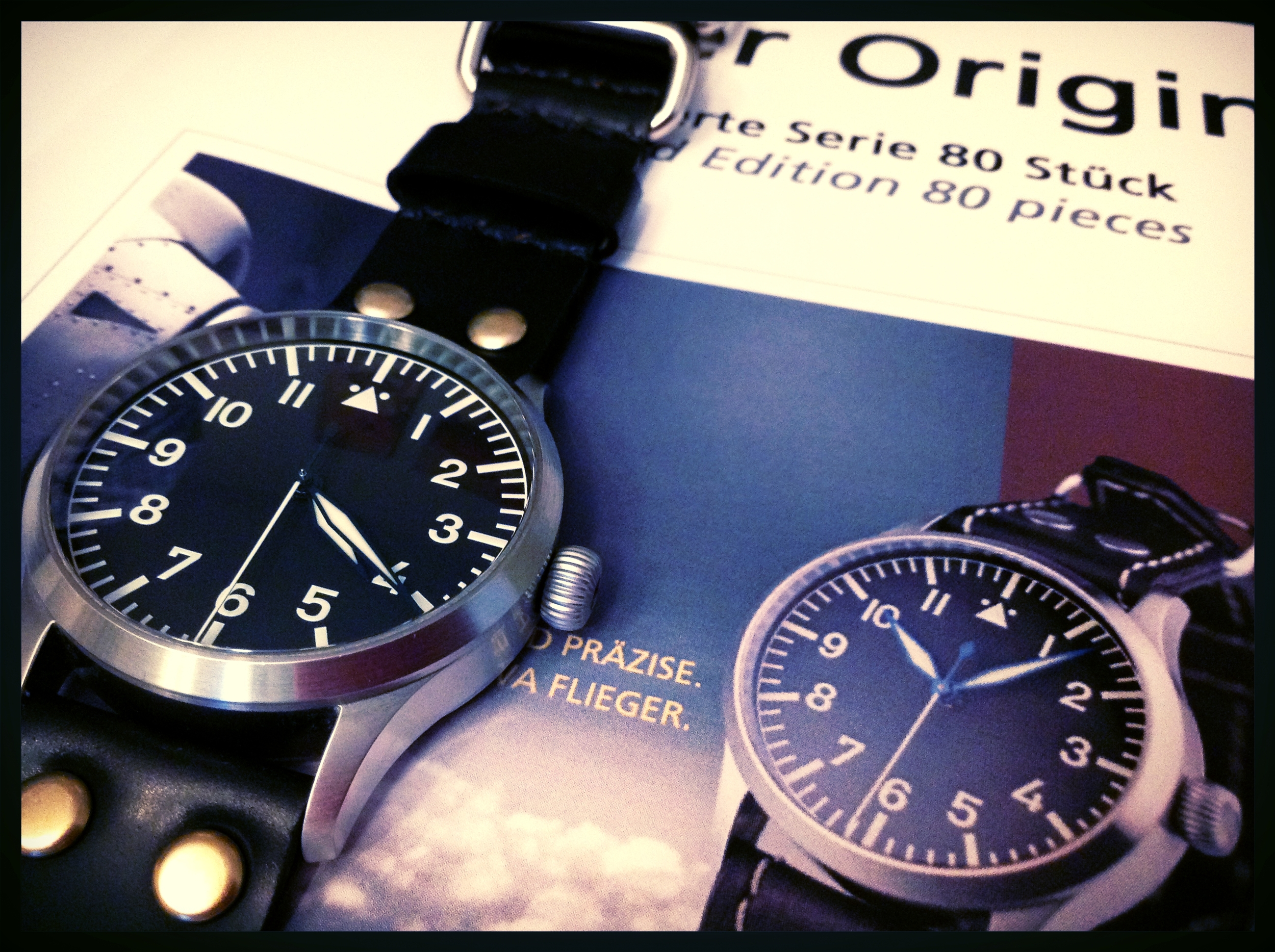 Stowa FO 80th LE on flieger strap in Black shell.