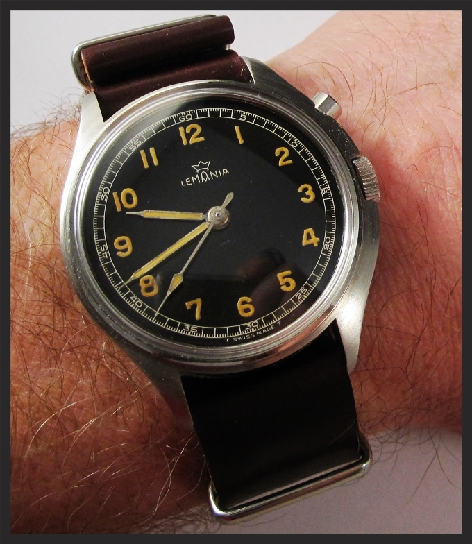 Lemania Tg 195 Swedish Military on a MIL strap. One of the most beautiful watches ever made.