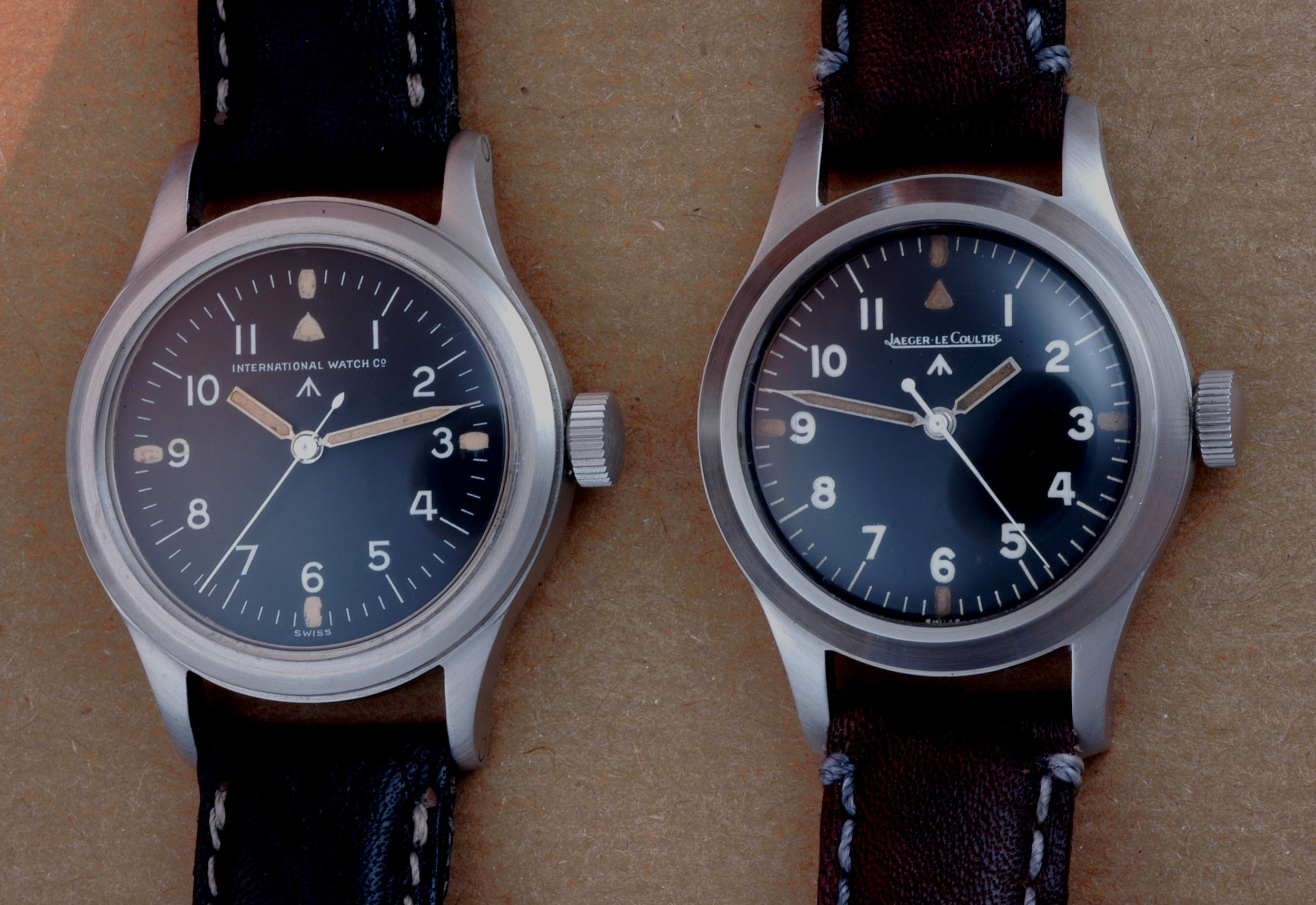 IWC and JLC Mk 11 watches.  Image (c) Franco and markeleven.com