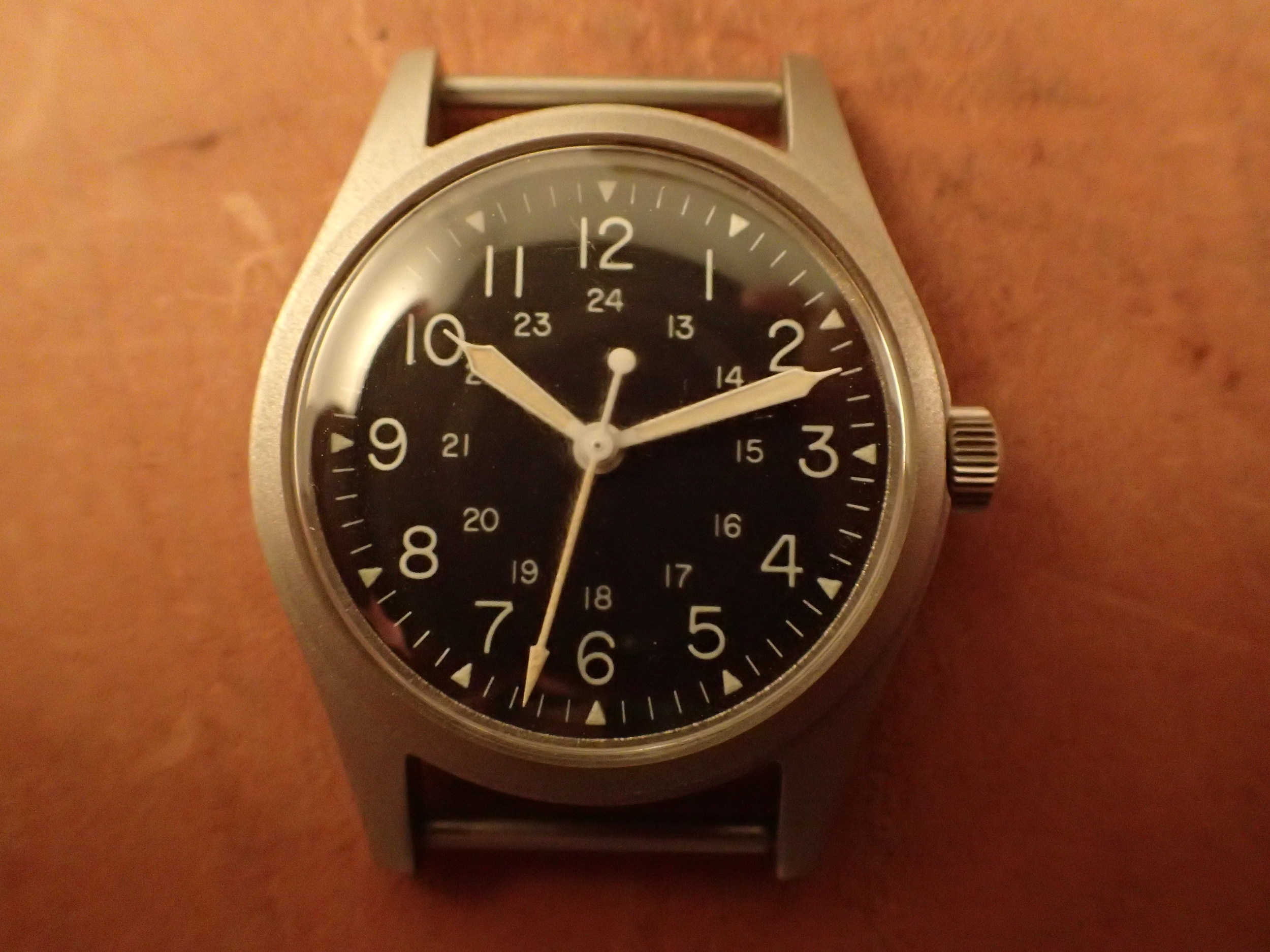 GG-W-113 with thin font dial. The specification called for a sterile dial to make it more legible.