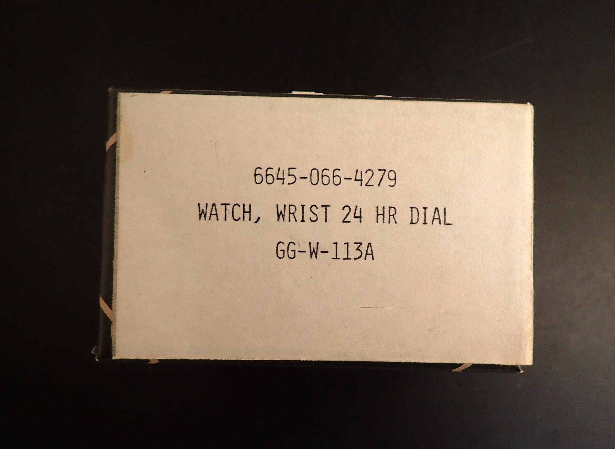 Big Khaki 9219 box with faux GG-W-113 labeling,...