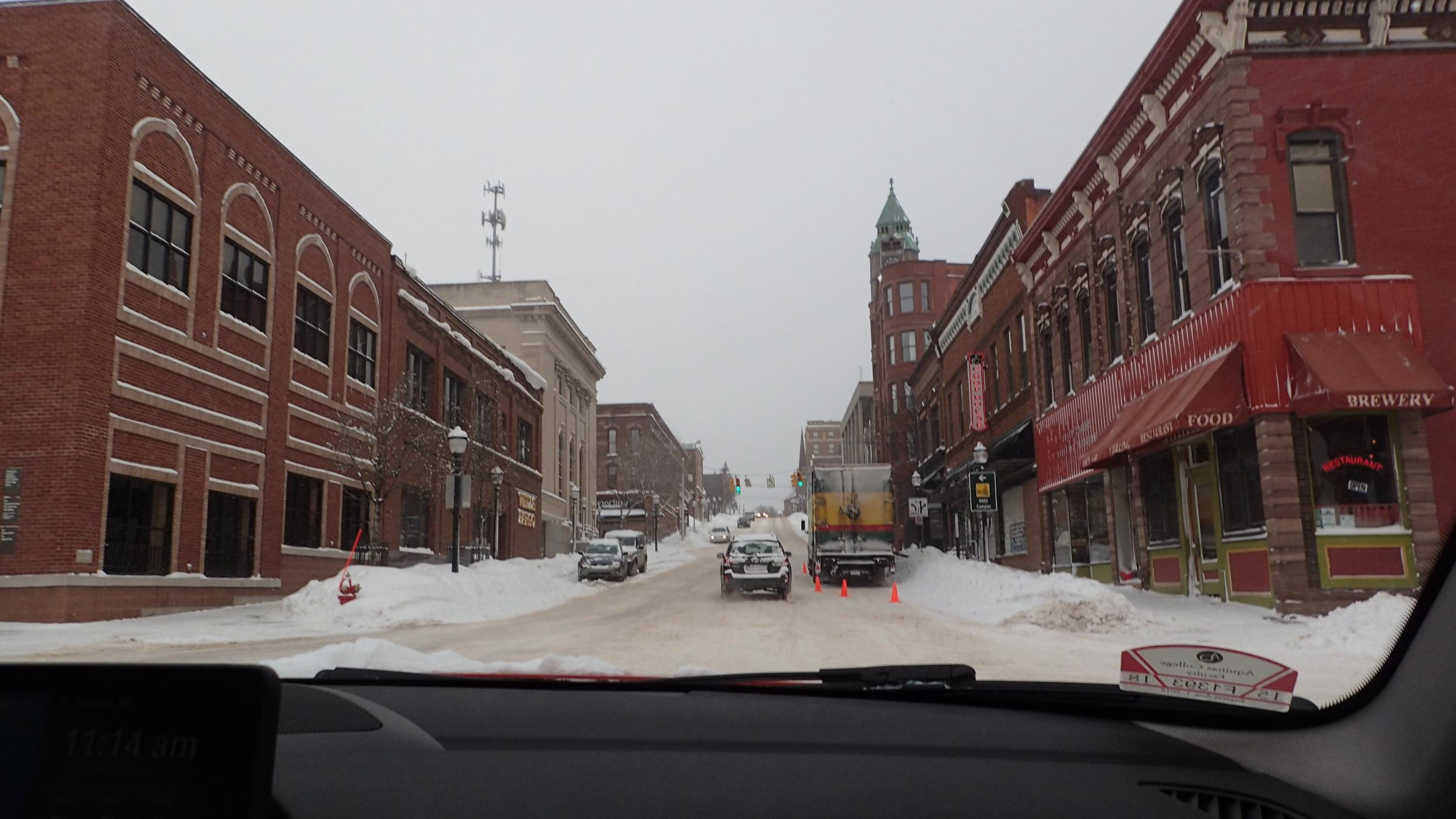 Downtown Marquette, Michigan.