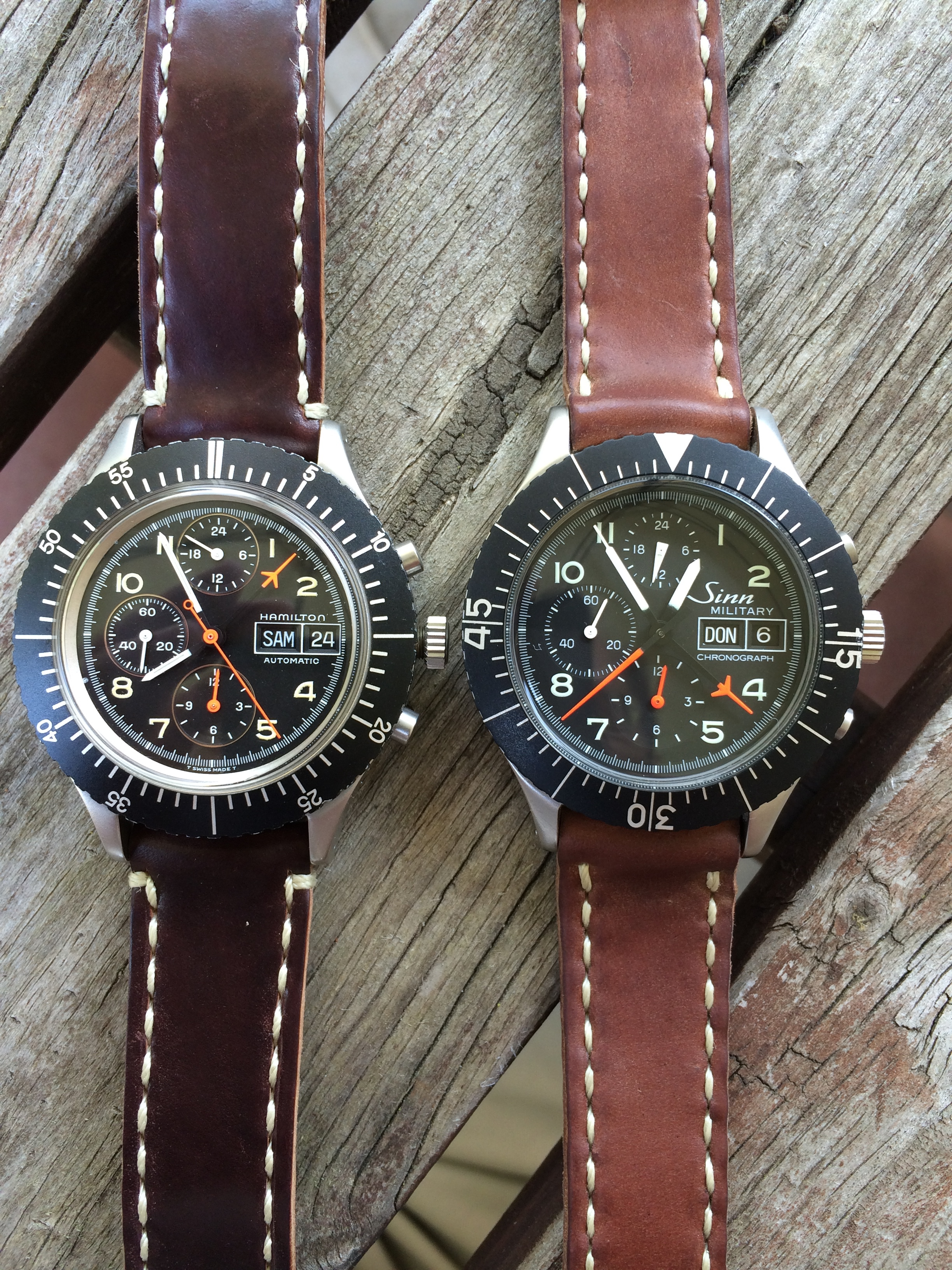 The Hamilton 156/Bund-alike and the Sinn 156.  Twins separated at birth?