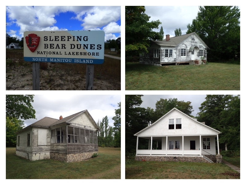 Some of the buildings of North Manitou Island Village.