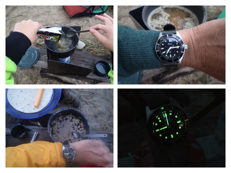 The Precista makes a handy dinner timer. In the time it took to cook our Vigo, the rain had returned.