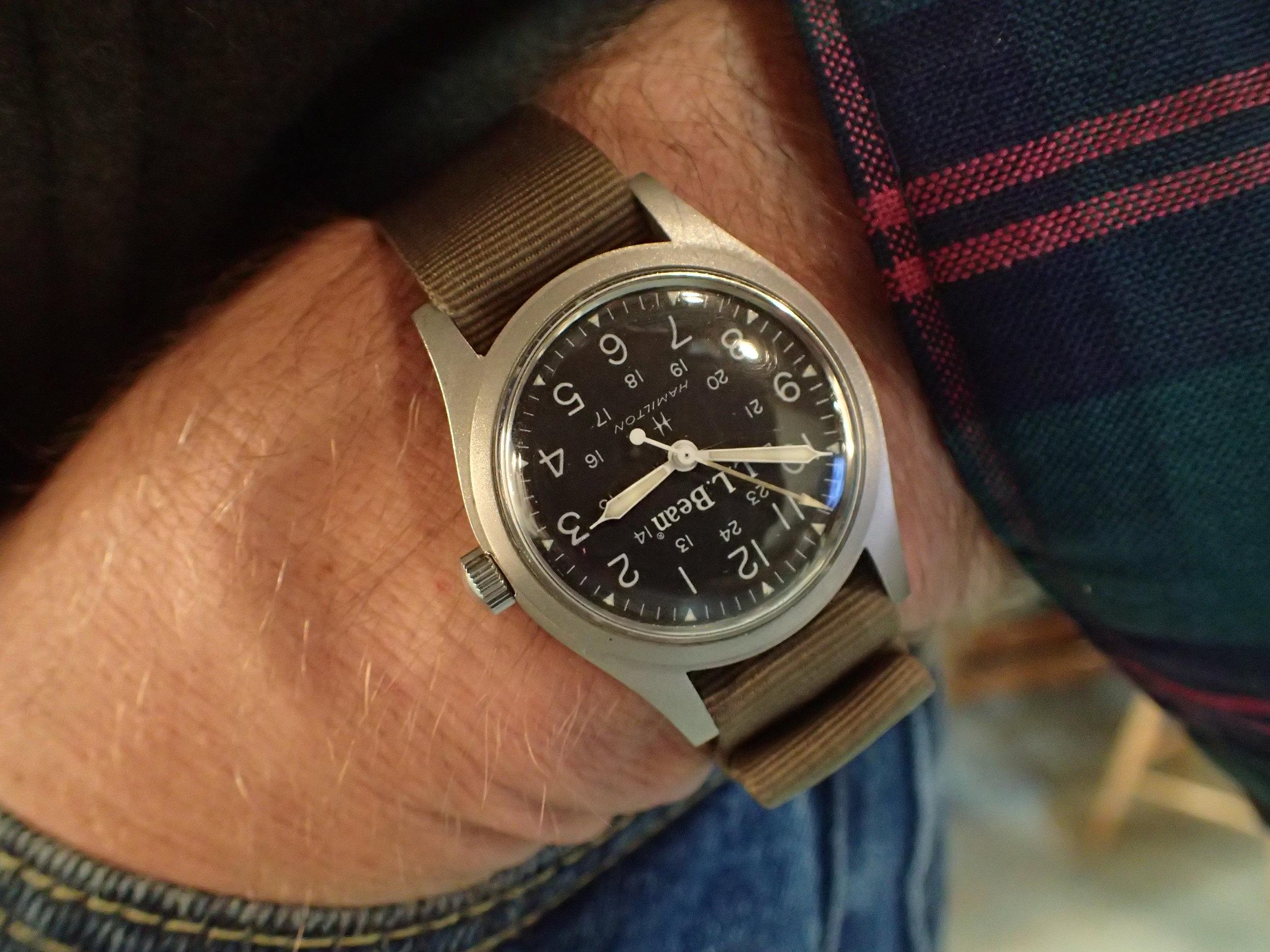 Hamilton 9219 on the wrist.