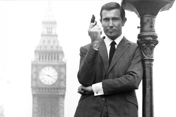 George Lazenby as James Bond.