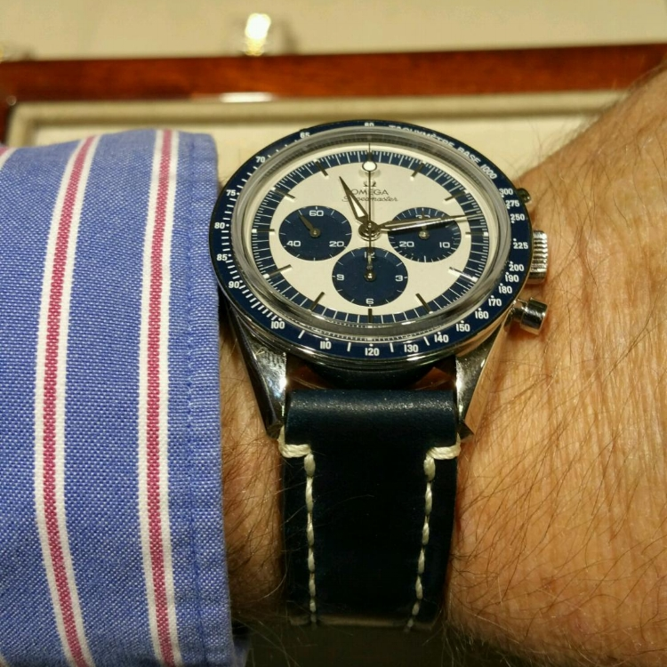 Speedmaster CK 2998 on Navy Arts & Crafts. Wow, what a beautiful watch.