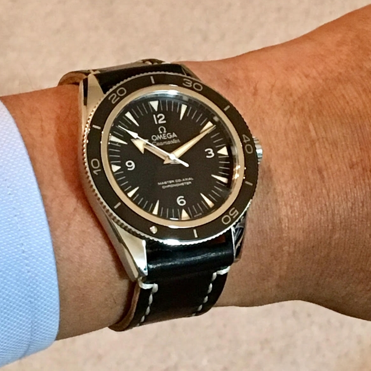 Gorgeous, instant-classic Omega Seamaster 300 Master Co-Axial on a Black Arts & Crafts. This watch is a Rover Haven favorite!