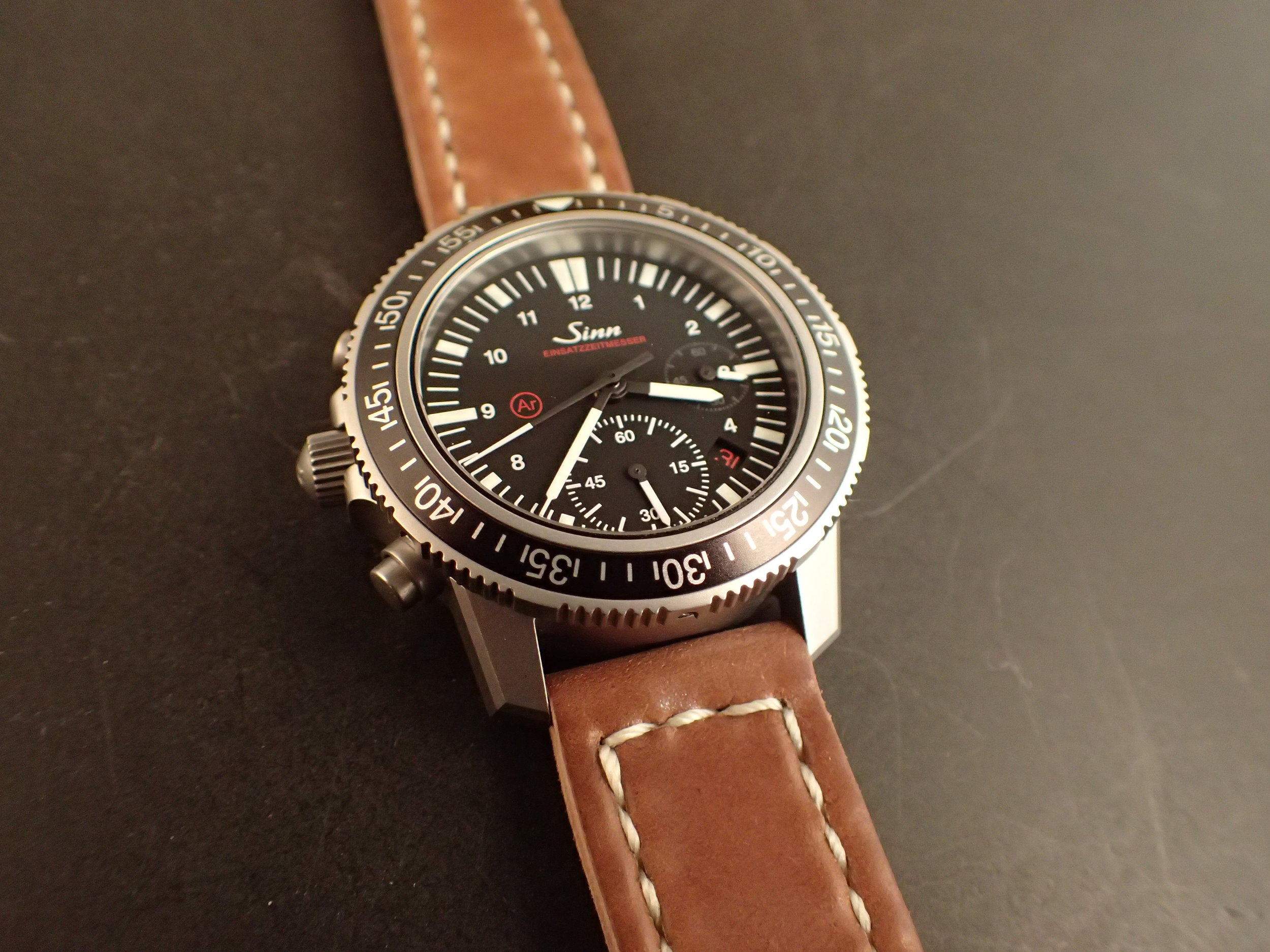 The Sinn 613 on an Arts & Crafts strap made from Horween shell cordovan. Without a doubt, this is the most comfortable way to wear this watch.