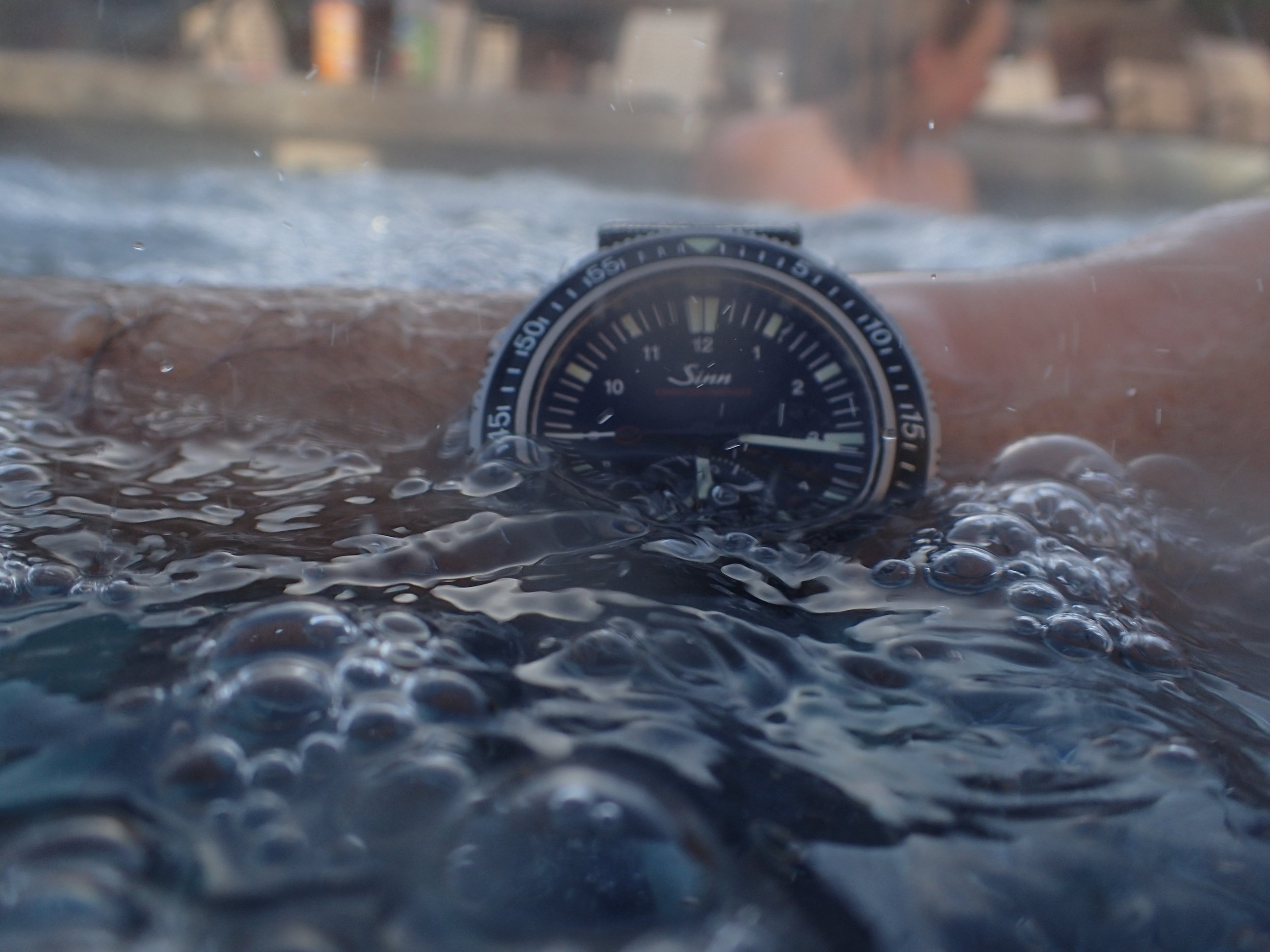 The Sinn EZM 13 has an impressive water resistance of 500 m.
