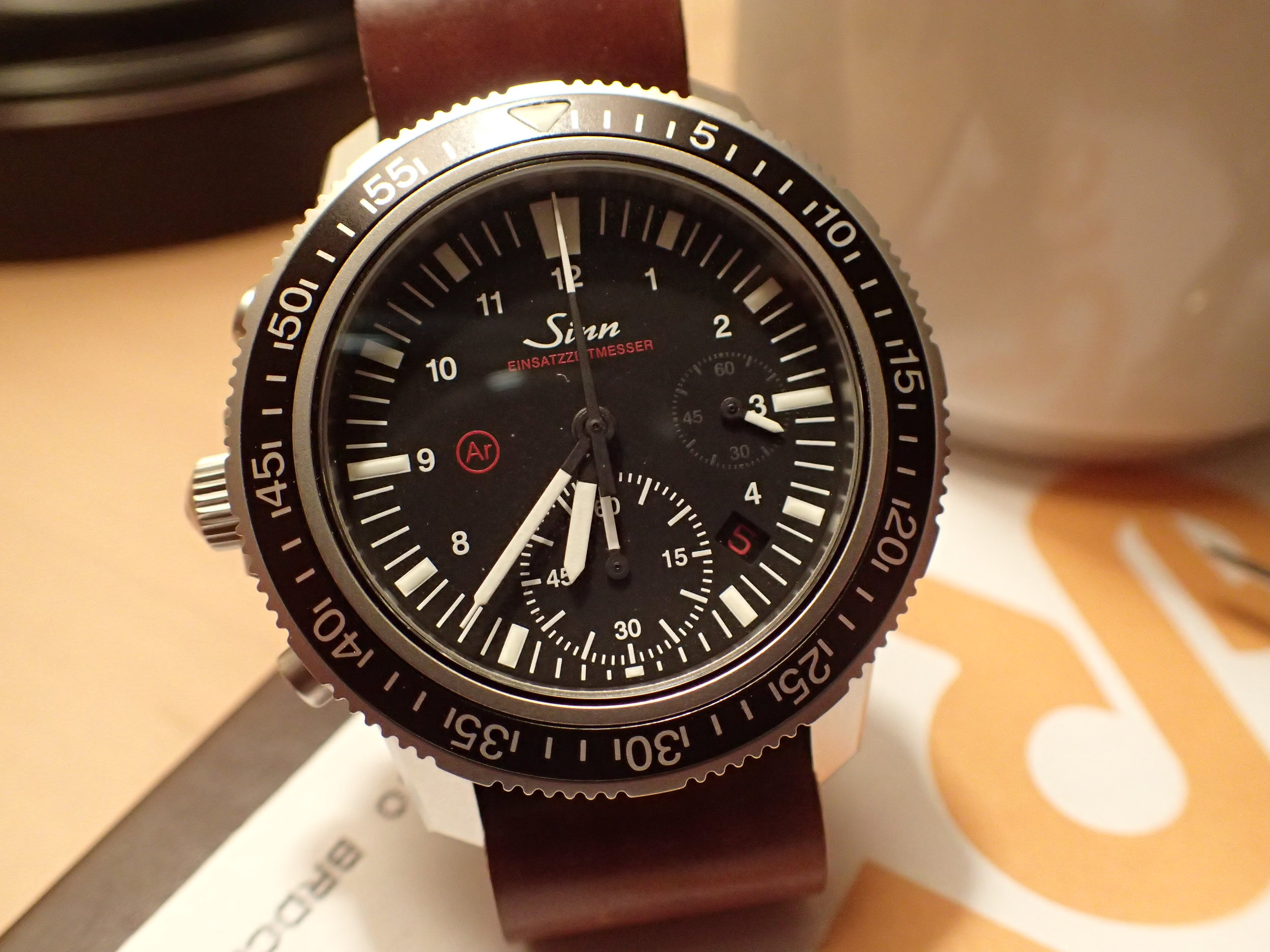 Omit the running seconds hand at 3:00 and lume the chronograph minutes dial and this watch would be perfect.
