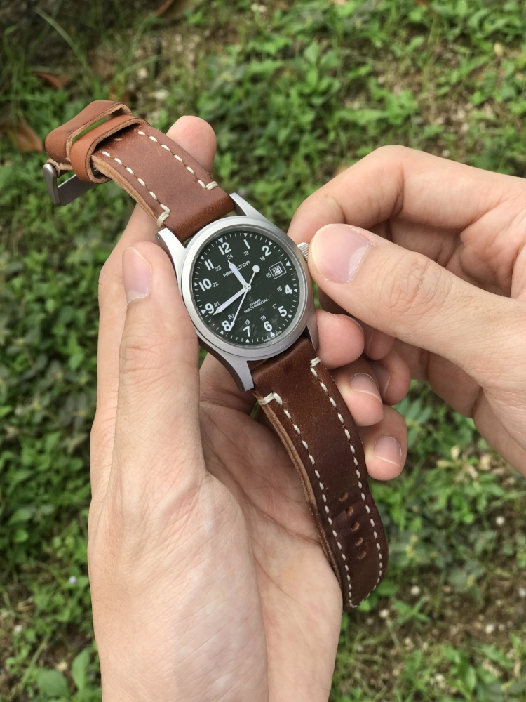 Hamilton Field Mechanical on a burly Arts & Crafts in Natural!