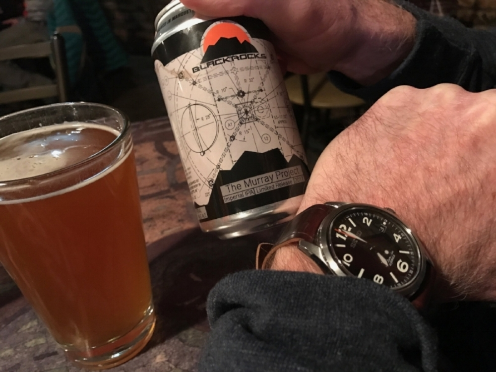 Seiko SARG011 on No. 8 one-piece. I love this watch (and this brewery)!