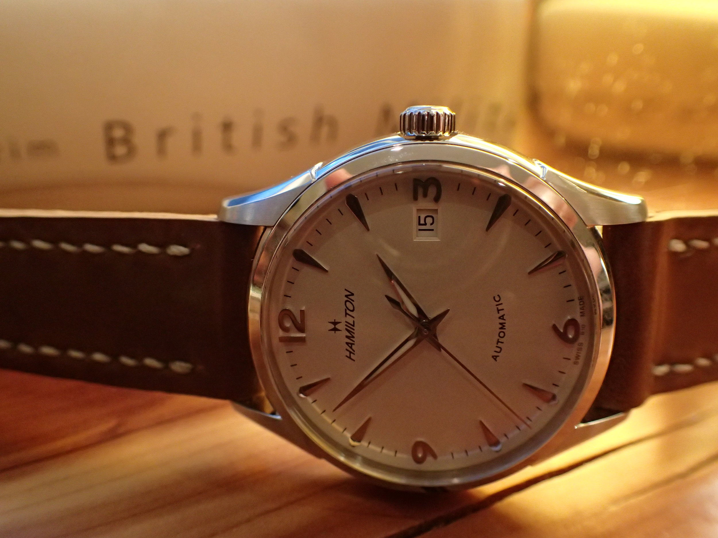 In 38 mm size, the Thin-O-Matic's date window is subtle enough.