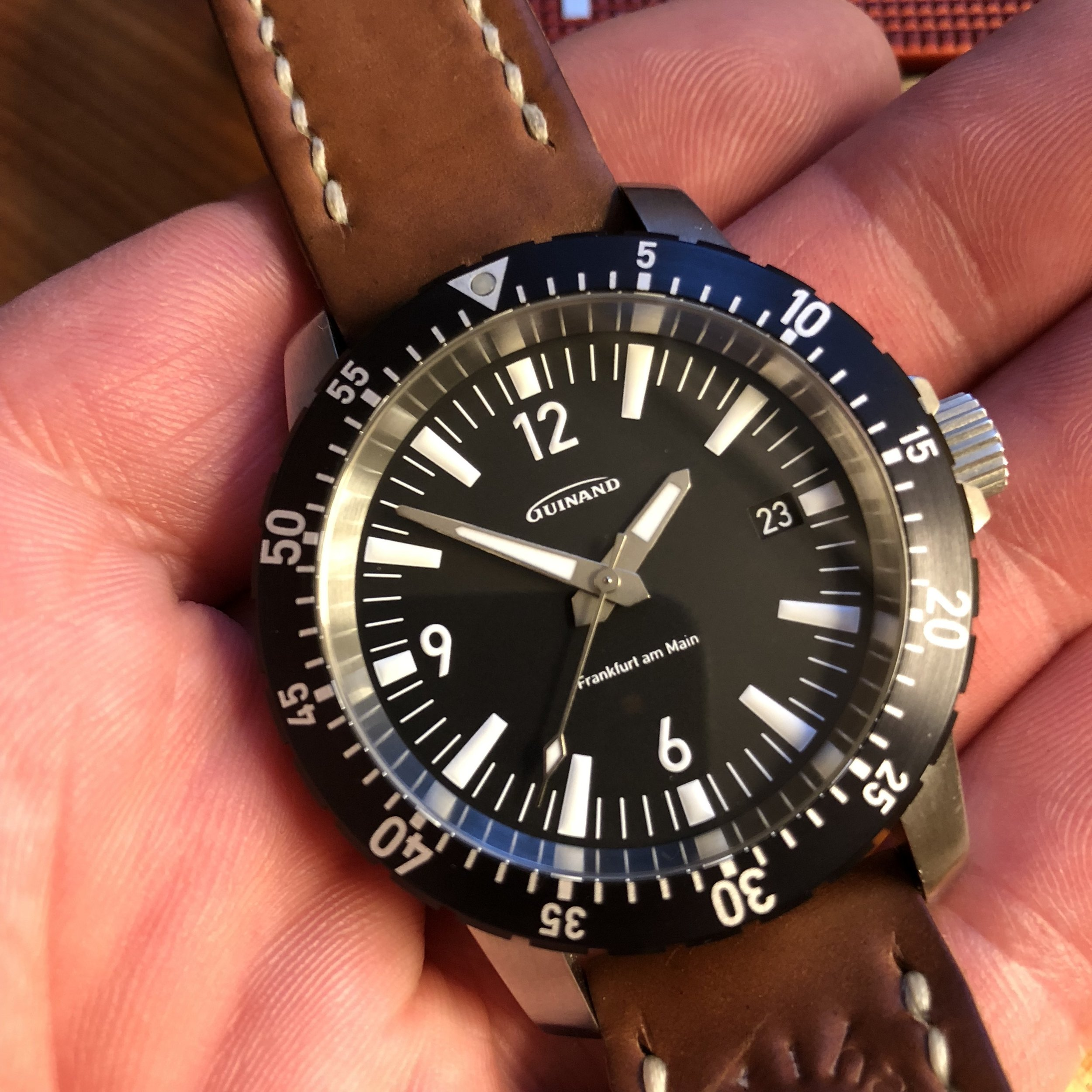 The Guinand AS Flieger. Dial and handset perfection.