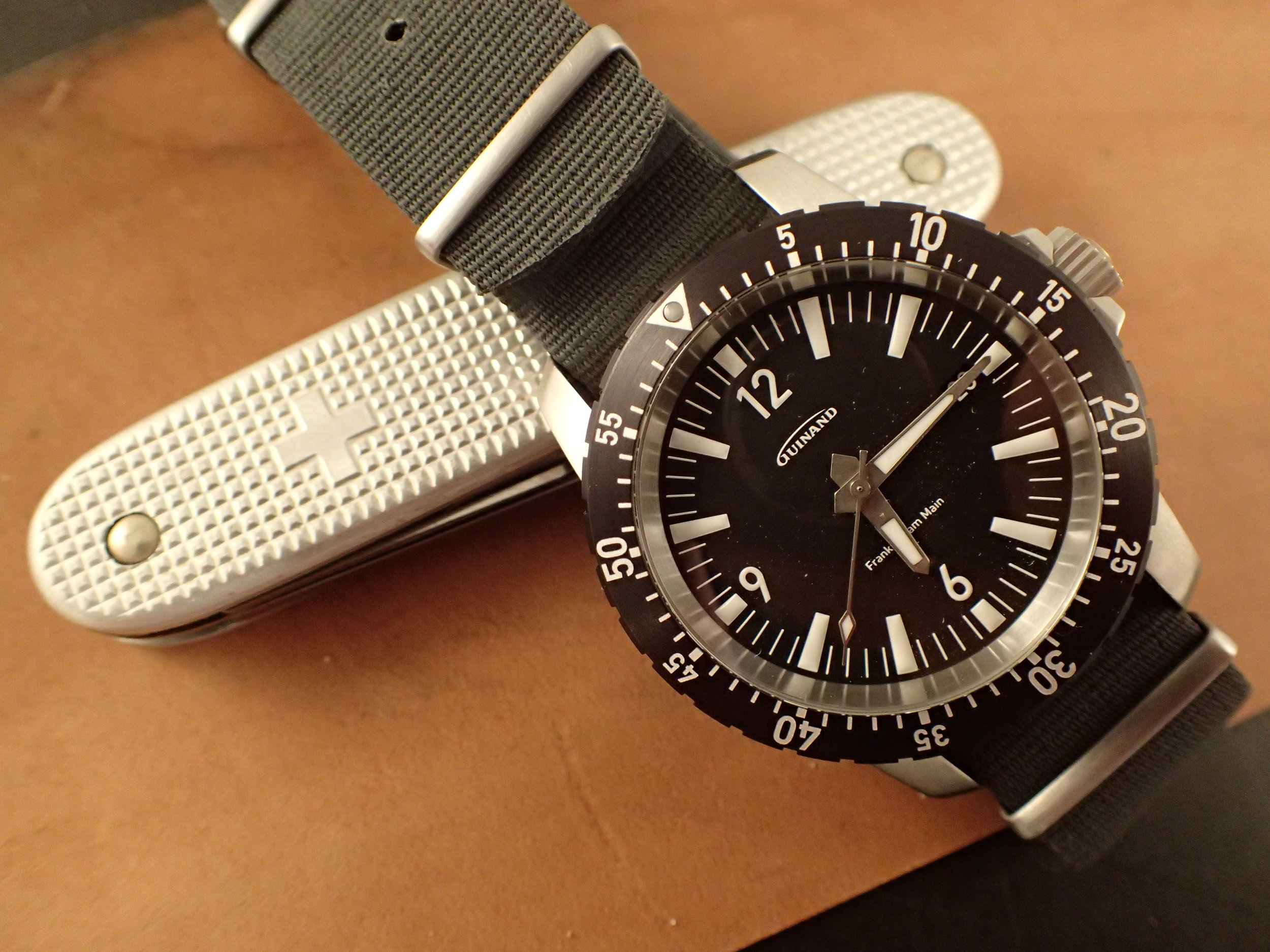 A perfect candidate for your One Watch life, the Guinand AS Flieger.