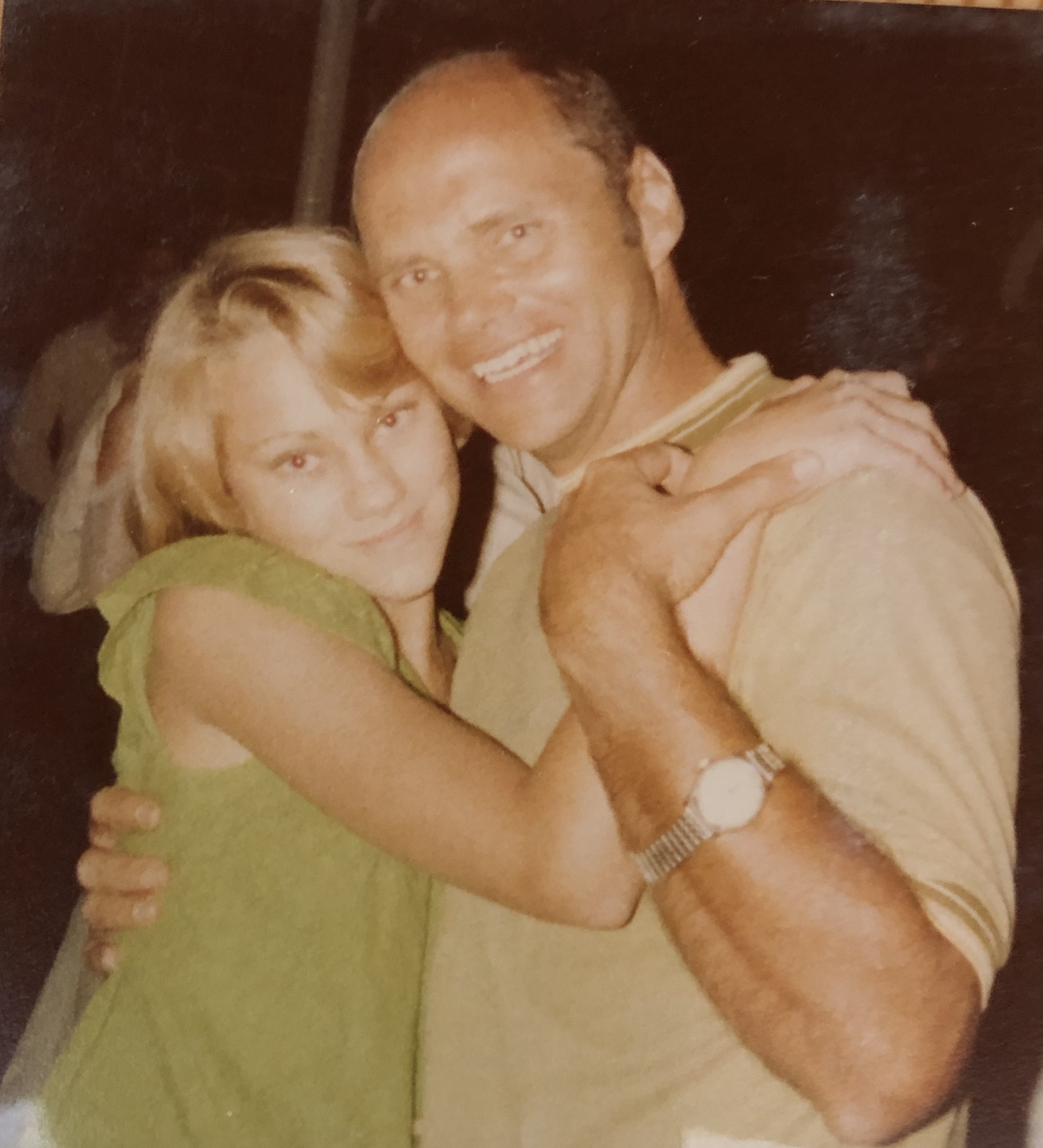 At a family wedding in 1977. Dad wearing the Omega and dancing with my big sister.