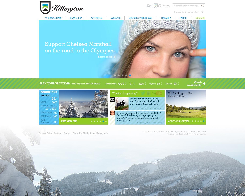 Killington Resort Website Design