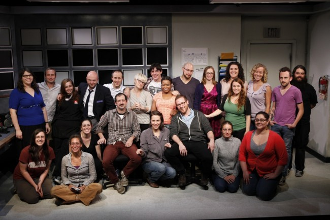 The cast and crew! Photo by Carol Rosegg.